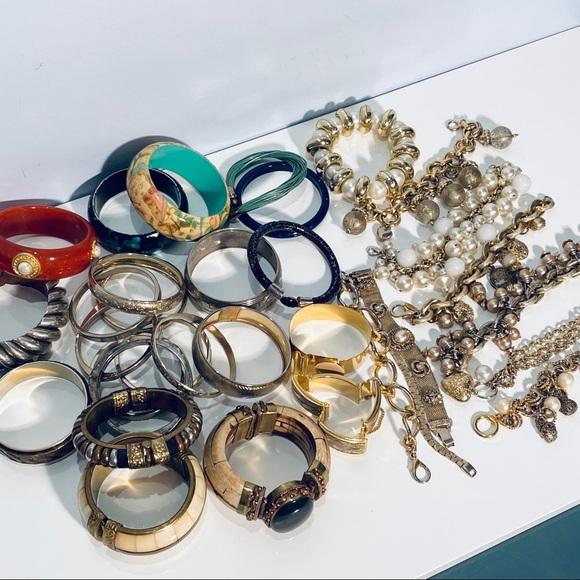 Lot Of Vintage Bracelets 33 Items